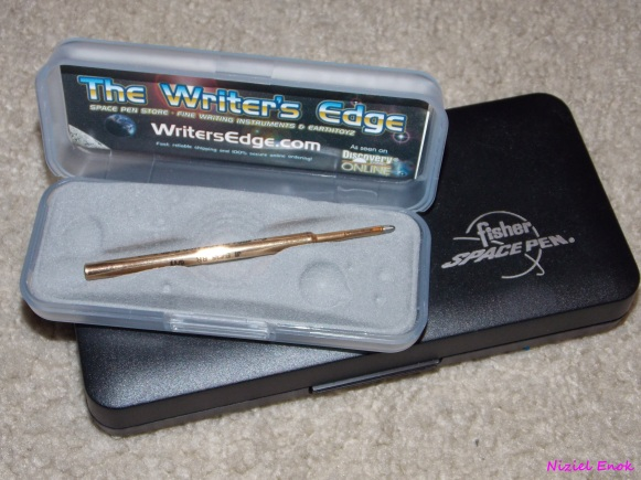 Writer's edge pen, Fisher space pen.